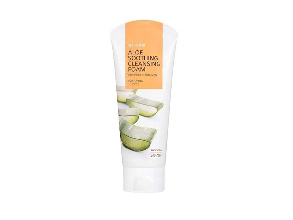 SP-K001 KWAILNARA  - Aloe Soothing Cleansing Foam 130g